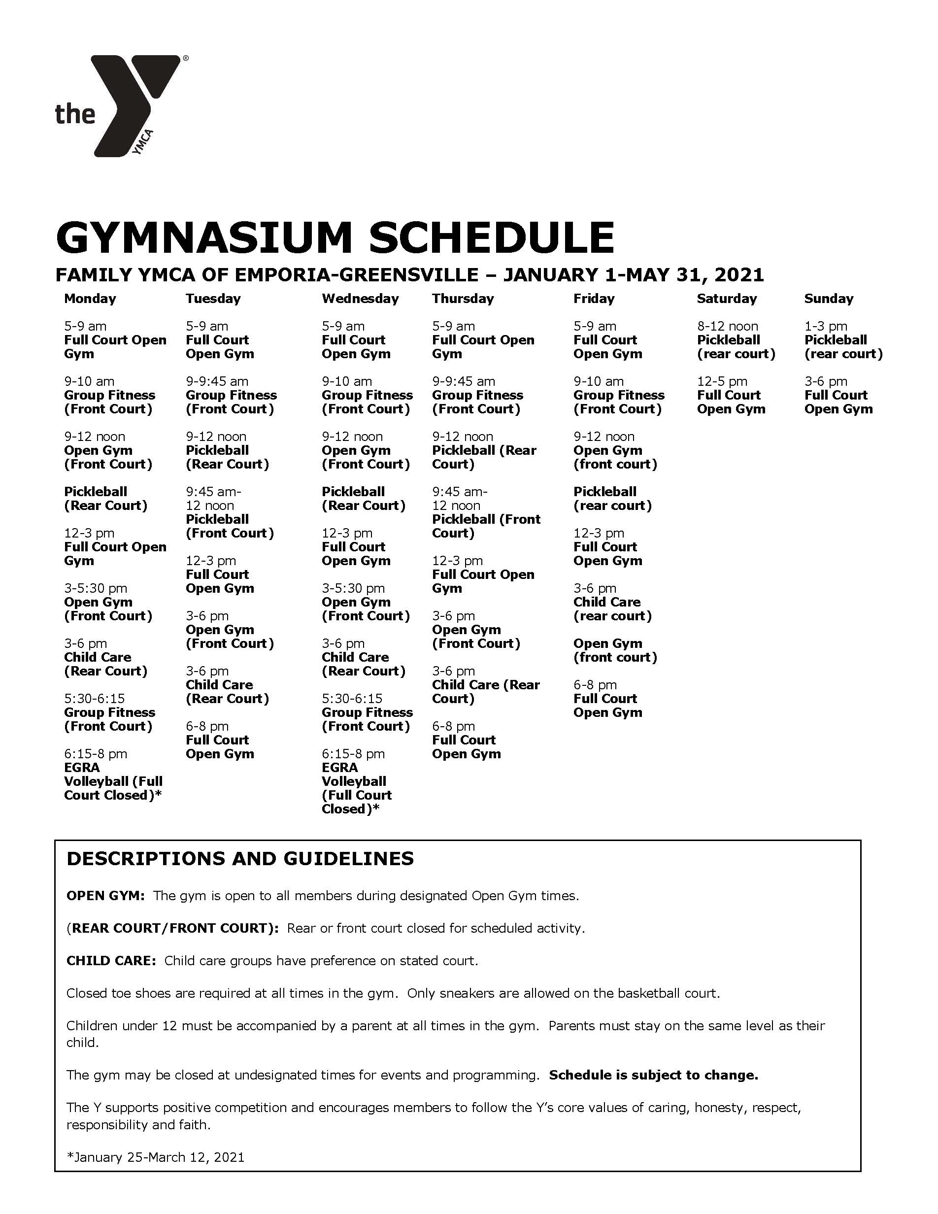 Winter gym schedule 1.12 5.31.21