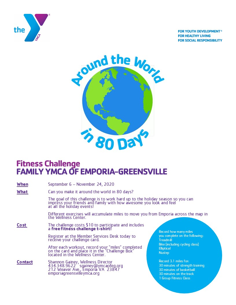 fall fitness challenge flier 8.25.20